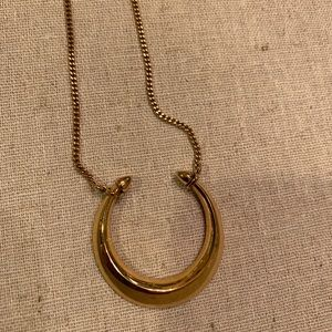 Stella & Dot Jewelry - Gold moon necklace by Stella and Dot